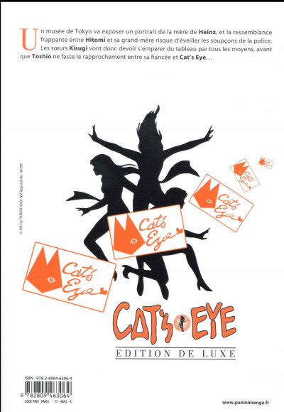 Dos Cat's eye - édition 2017 tome 9