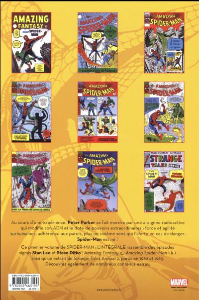 Dos Amazing Spider-Man - intégrale tome 1