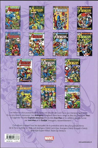 Dos Avengers - intégrale tome 13 - 1976