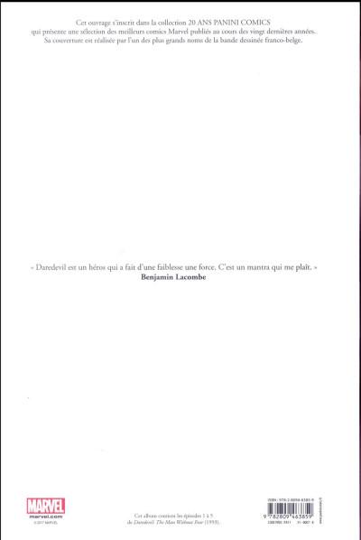 Dos Daredevil - L'homme sans peur - édition 20 ans