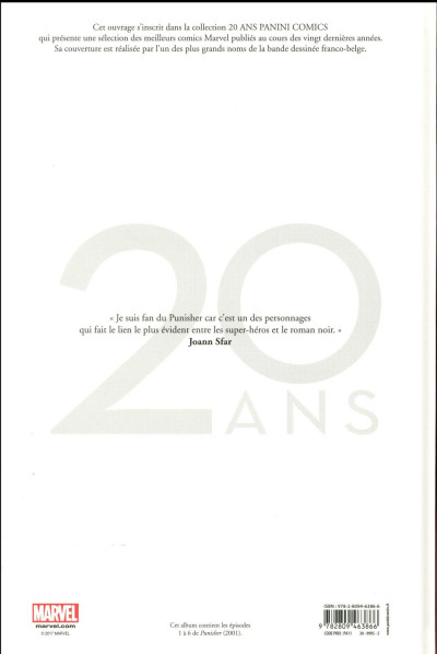 Dos Punisher - édition 20 ans
