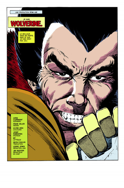 Page 6 Wolverine - édition 20 ans