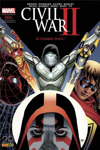 Couverture Civil war II tome 6 - cover 2/2
