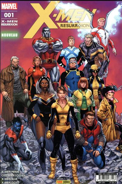 Couverture X-men - resurrxion tome 1