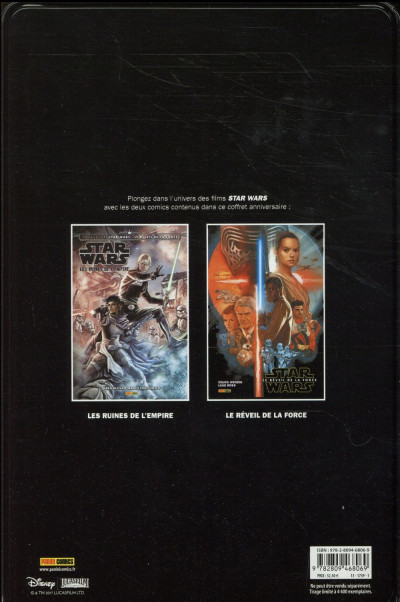 Dos Star wars - coffret métal : Les ruines de l'empire + le réveil de la force