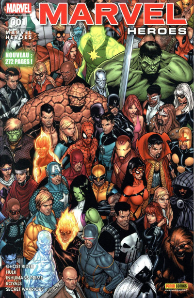 Couverture Marvel heroes tome 1