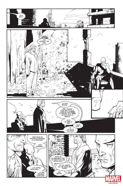 Page 5 House of M (noir et blanc)