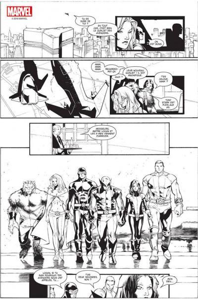 Page 8 House of M (noir et blanc)