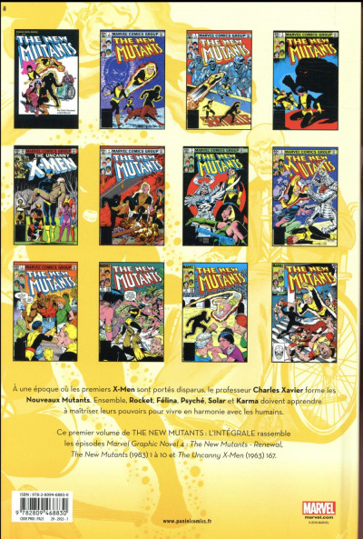 Dos The new mutants - intégrale tome 1 - 1982-1983