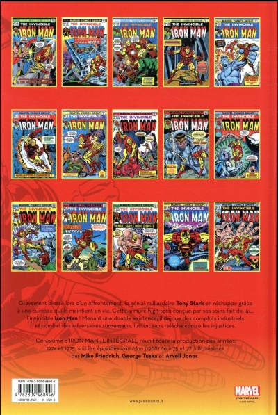 Dos Iron Man - intégrale tome 9 - 1974-1975