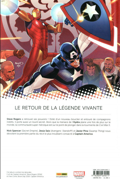 Dos Captain America - Steve Rogers tome 1