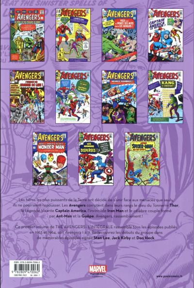 Dos Avengers intégrale tome 1 - 1963-1964 (édition 2018)