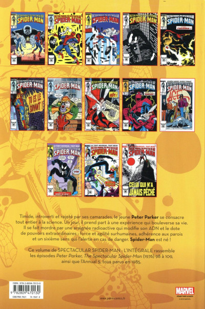 Dos Spectacular Spider-Man - intégrale tome 40