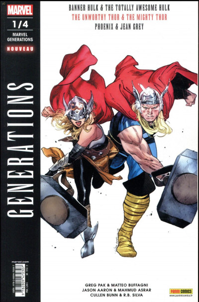 Couverture Marvel generations tome 1