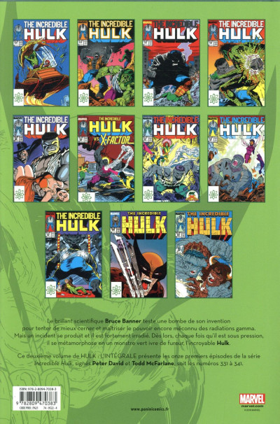 Dos Hulk - intégrale tome 2 - 1987-1988 (nouvelle édition)