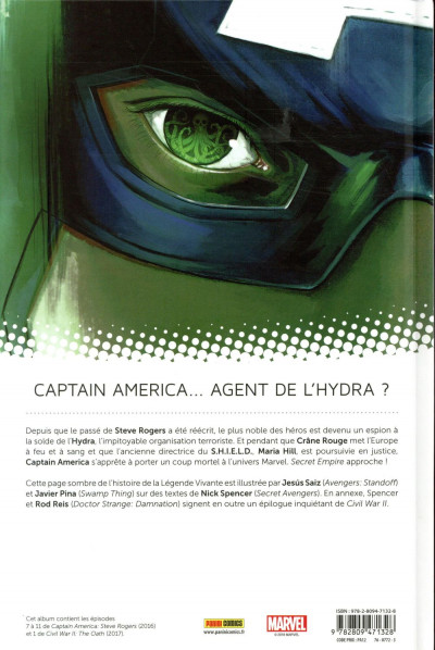 Dos Captain America - Steve Rogers tome 2