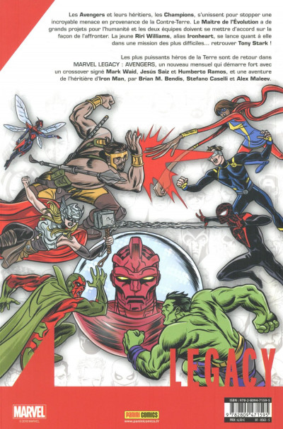 Dos Marvel legacy - Avengers tome 1