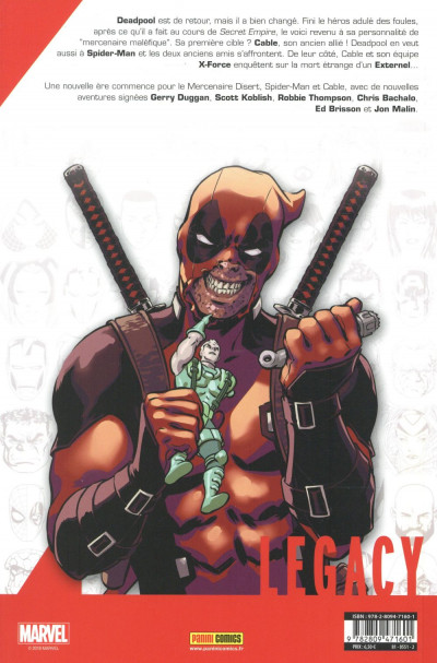 Dos Marvel legacy - Deadpool tome 1