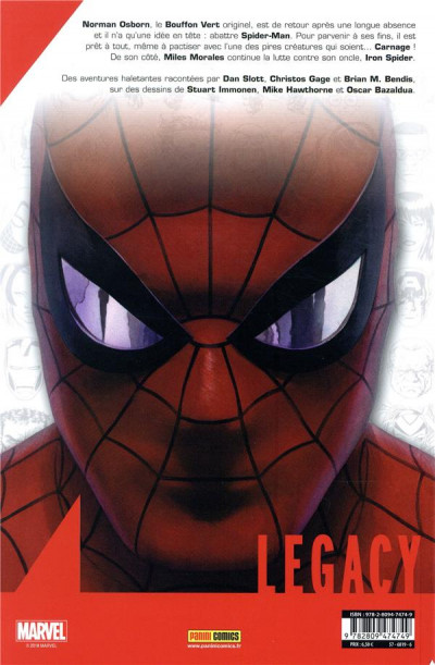 Dos Marvel legacy - Spider-man tome 6