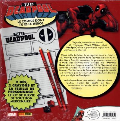 Dos Tu es Deadpool - Le comics dont tu es le héros