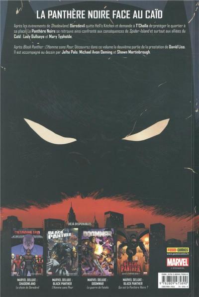 Dos Black panther - L'homme le plus dangereux du monde