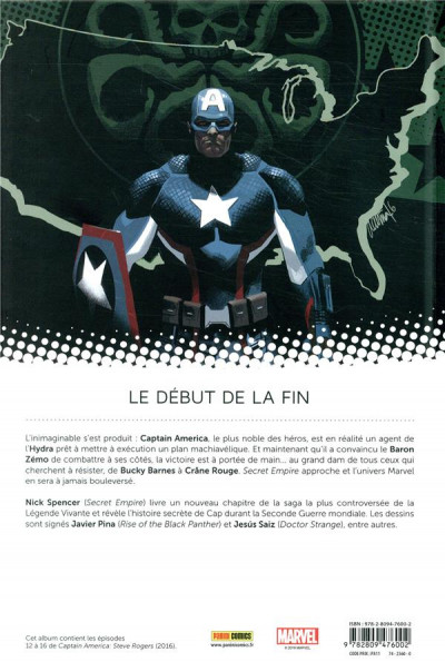 Dos Captain America - Steve Rogers tome 3