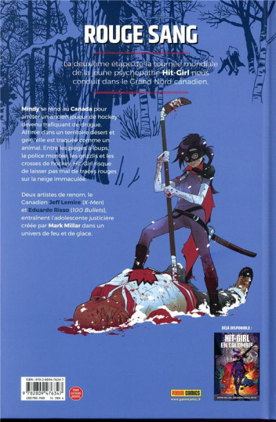 Dos Hit Girl tome 2 - Hit Girl au Canada