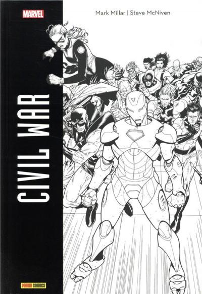 Couverture Civil War - édition noir et blanc