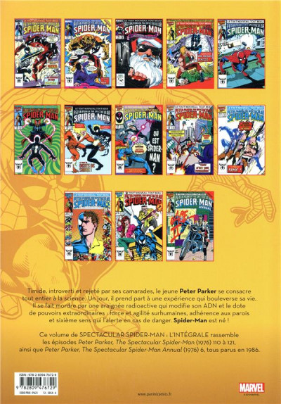 Dos Spectacular Spider-Man - intégrale tome 42 - 1986