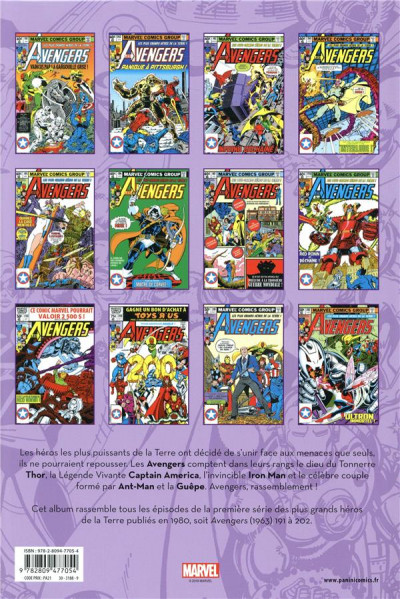 Dos Avengers - intégrale tome 17 - 1980