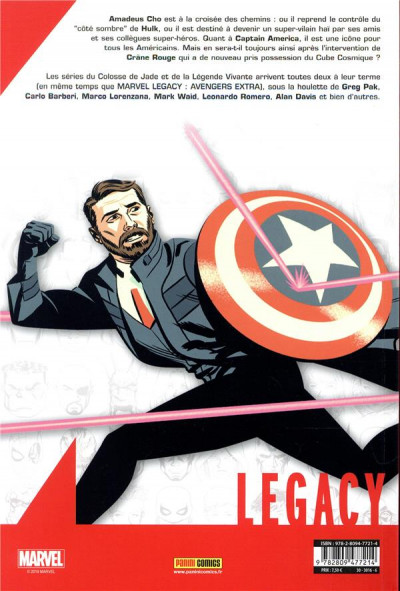 Dos Marvel legacy - Avengers extra tome 5