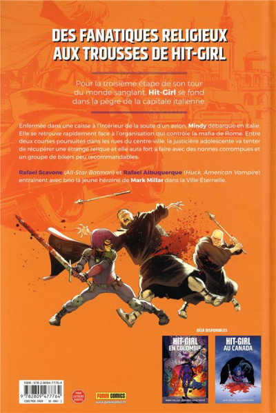 Dos Hit-Girl tome 3 - Hit-Girl à Rome