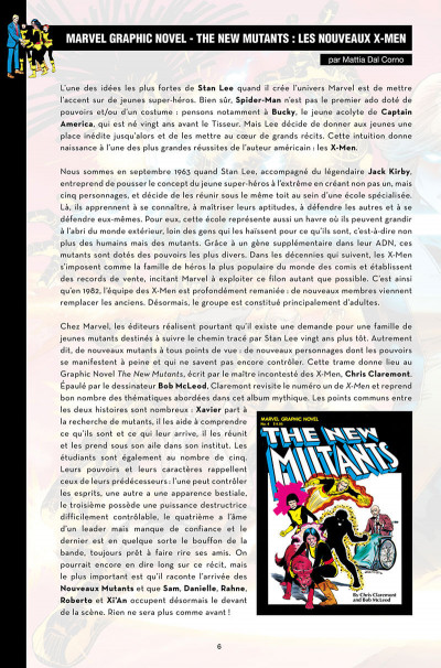Page 6 Nous sommes les nouveaux mutants