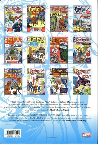 Dos Fantastic four - intégrale tome 2 - 1963