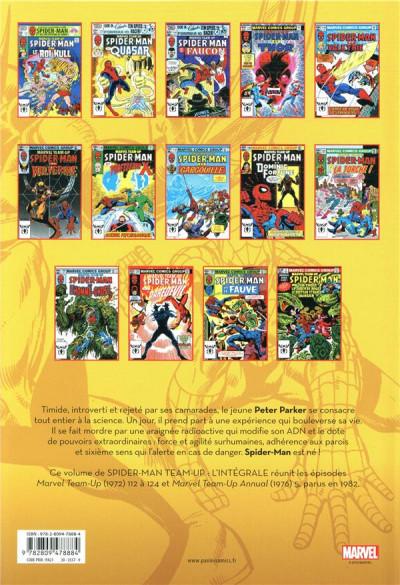 Dos Spider-man - team up - intégrale tome 45 - 1982