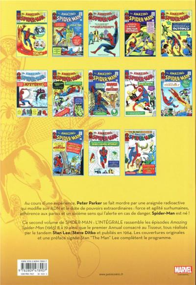 Dos Amazing Spider-man - intégrale tome 2 - 1964