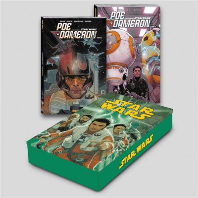 Couverture Star Wars - Poe Dameron - coffret métal tomes 1 et 2