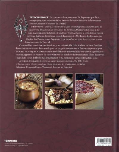 Dos The elder scrolls - Le livre de cuisine officiel