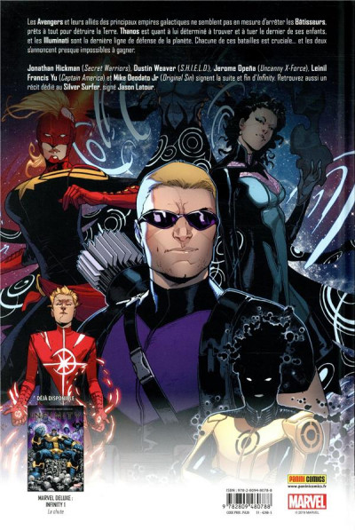 Dos Infinity - marvel deluxe tome 2