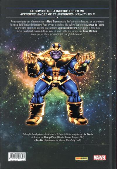Dos Thanos - Le gant de l'infini