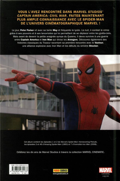Dos Marvel cinématique tome 1 - Spider-man homecoming
