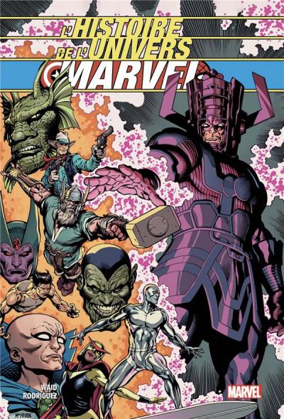 Couverture L'histoire de l'univers Marvel