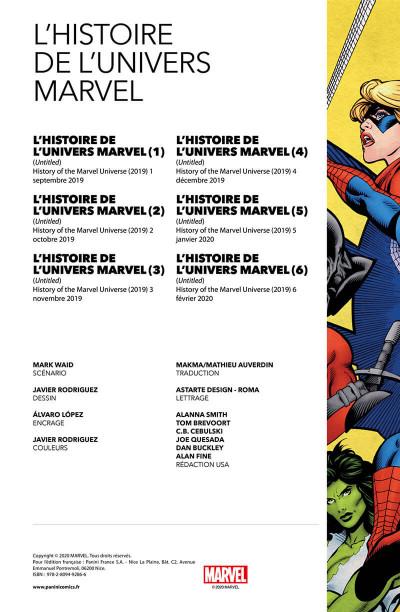 Page 2 L'histoire de l'univers Marvel