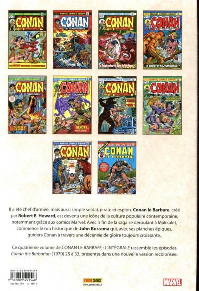 Dos Conan le barbare - intégrale tome 4