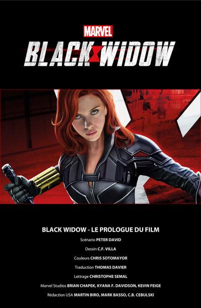 Page 1 Black Widow - Le prologue du film