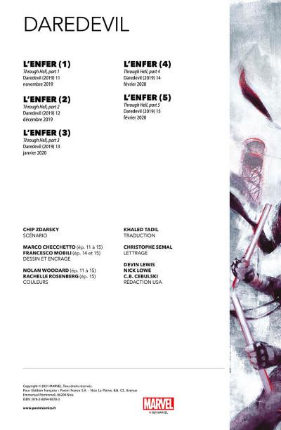 Page 2 Daredevil (Zdarsky) tome 3