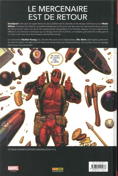 Dos Deadpool - Retour aux affaires