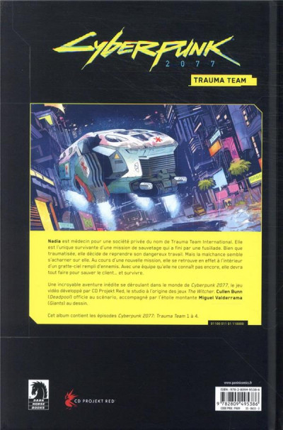 Dos World of cyberpunk 2077 tome 1