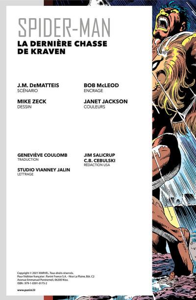 Page 3 Spider-man - La dernière chasse de kraven