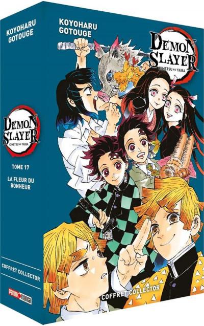 Couverture Demon slayer - coffret tome 17 + roman tome 1